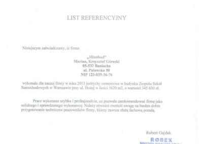 Referencje Robex