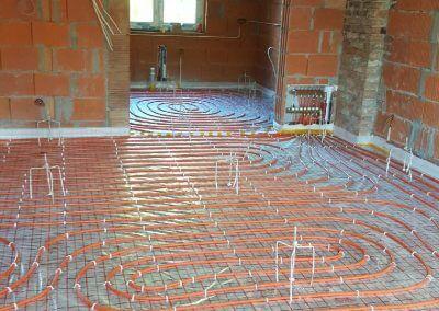 Przygotowana budowa do wykonania wylewki anhydrytowej